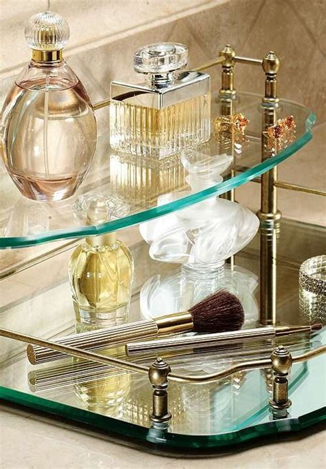 Mirrored Bathroom Tray by Belmont Two Tier Vanity Tray Suite Inspiration Vanity