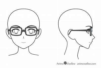 Glasses Anime Draw Head Side Face Drawing