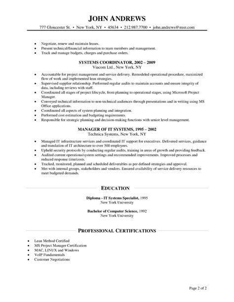 Telecom Project Manager Resume Sle by Project Manager Resume