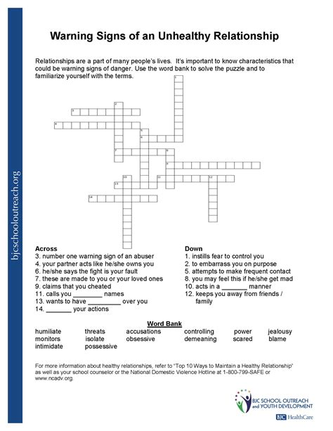 healthy and unhealthy relationships worksheets healthy