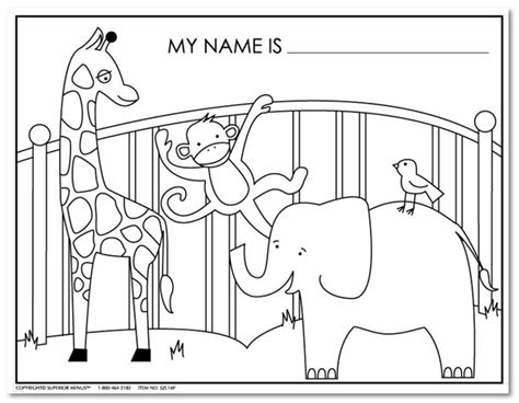 Zoo Animals Coloring Sheets