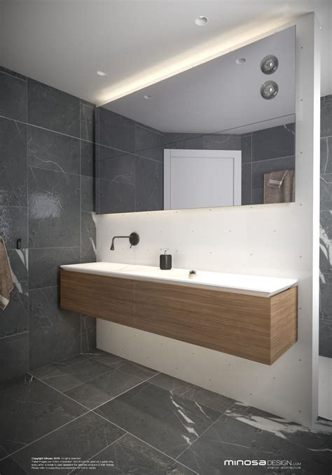 Modern Bathroom Lighting by Minosa Small Modern Bathroom To