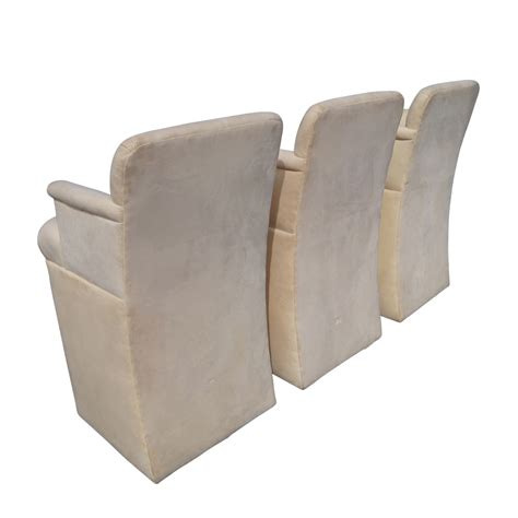 3 upholstered bar stools with arms ebay