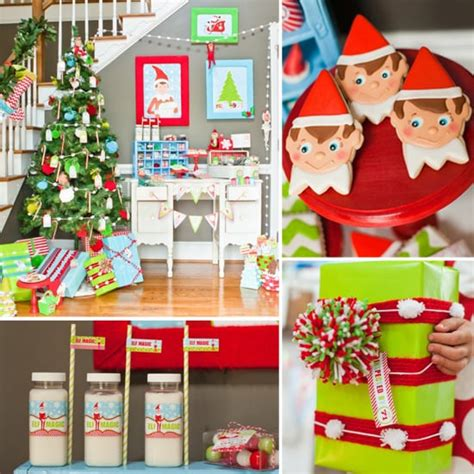 elf   shelf christmas party  kids popsugar family