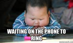 waiting on the phone to ring