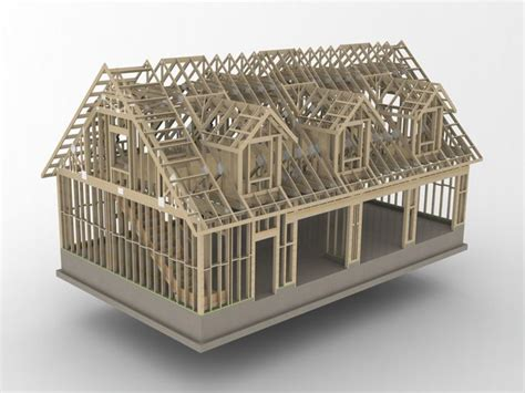 Roof Dormer Plans by 48x28 Garage With Attic And Six Dormers Carpentry