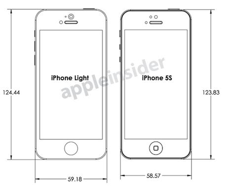 dimensions of iphone 5c leaked design drawings reveal expected budget iphone and