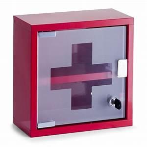 Armoire à Pharmacie Murale : achat armoire pharmacie murale rouge design clef vide ~ Dailycaller-alerts.com Idées de Décoration
