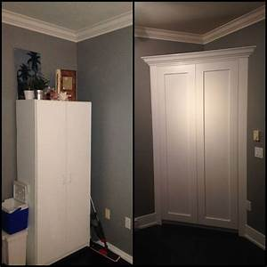 Diy corner pantry build future house pinterest for Build a corner pantry