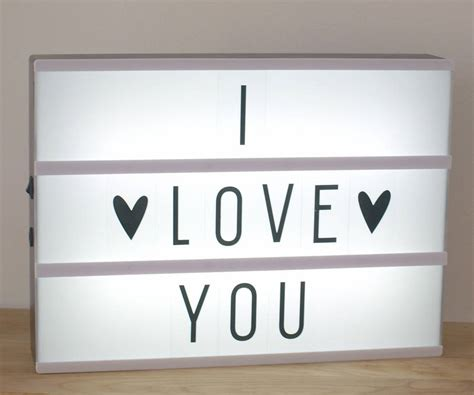 light in box customisable cinematic lightbox by idyll home