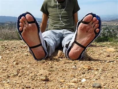 Feet Barefoot Foot Boy Male Outside Dirty