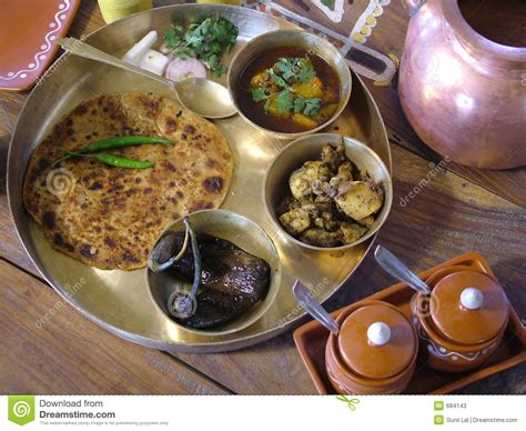 cuisine tradition indian traditional food stock image image of roti dine 684143