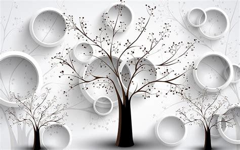 Фотообої Кола і дерева купити на стіну • Еко Шпалери