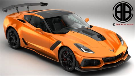 2019 Chevrolet Models by Chevrolet Corvette Zr1 2019 3d Model Flatpyramid