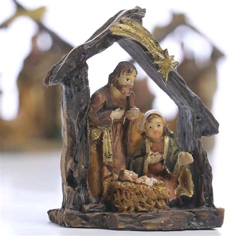 miniature nativity scene christmas miniatures