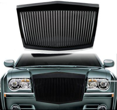 Chrysler 300 2005 2010 Black Phantom Style Vertical Grille