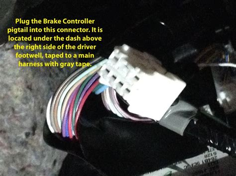 tekonsha plug  wiring adapter  electric brake controllers nissan  infiniti tekonsha