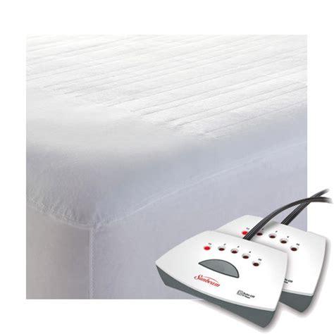 size heated mattress pad sunbeam non woven thermofine heated electric mattress pad
