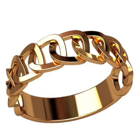yellow gold ring chain ring eternity wedding ring