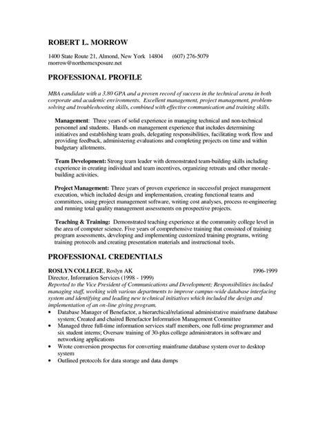 mba candidate resume http www resumecareer info mba