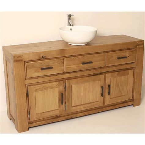 Rustic Bathroom Vanity Units by Milan Large Rustic Oak Bathroom Vanity Unit Click Oak