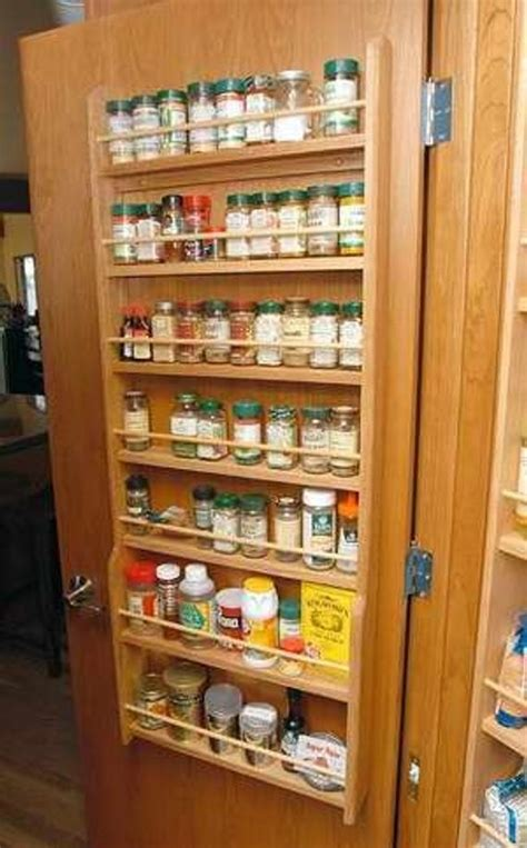 Pantry Door Mounted Spice Rack by Door Mounted Wood Spice Rack By Woodcraftersmissouri On Etsy