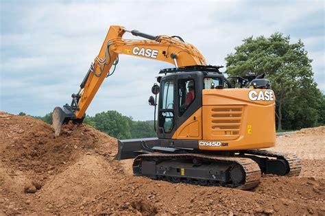 case minimum swing excavator concrete construction magazine heavy equipment