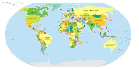 Grande Carte Du Monde En Français by La Carte Du Monde En Langue Locale Une Carte Du Monde