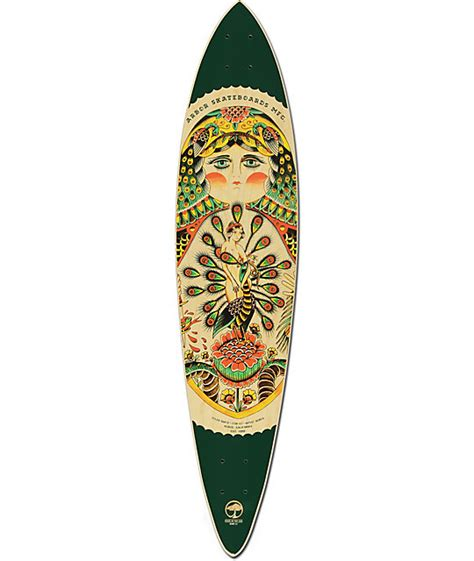 Pintail Longboard Deck Only by Arbor Fish Ac 39 Quot Pintail Longboard Deck