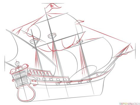 How To Draw A Pirate Boat by Best 25 Ship Drawing Ideas On