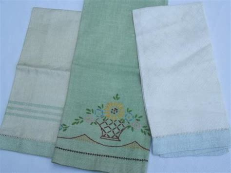 Vintage Powder Room Guest Towel Lot, Cotton & Linen Towels Laminate Flooring Cutter Rental Can You Use On Stairs Clean Floors With A Steam Mop In Kitchen Electric Floor Cleaner Best Cleaning Machine B&q Wood Canada