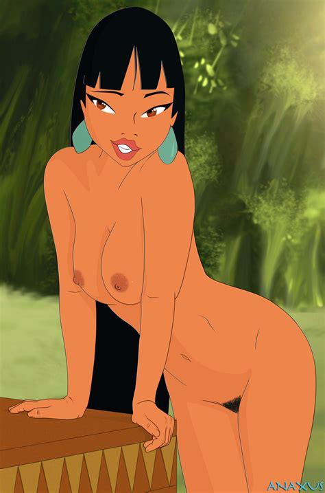 Rule 34 1girls Anaxus Breasts Brown Areola Brown Eyes Brown Nipples Brown Skin Chel Dark