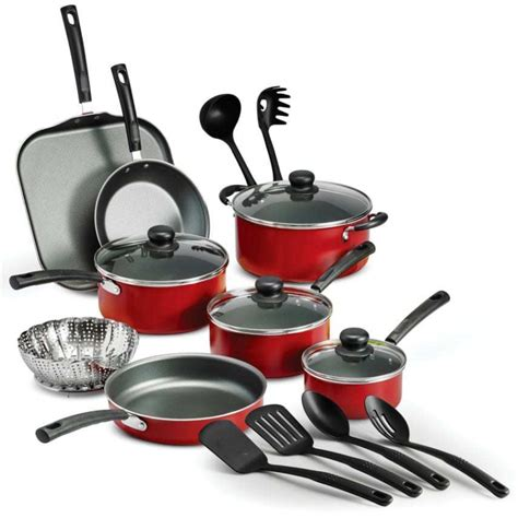 18 nonstick pots and pans cooking kitchen cookware set utensils new ebay