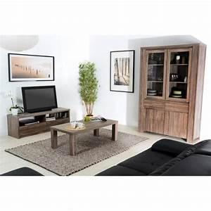 ensemble meuble tv et table basse campagne en c achat With meuble tv et table basse assortie