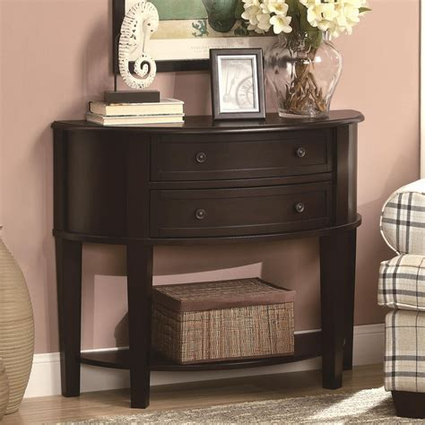 entryway console table furniture rustic console tables with storage drawer and