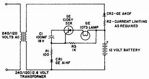 Simple Battery Operated Emergency Light Circuit Diagram