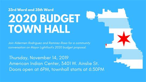 2020 Budget Town Hall with 33rd and 35th Wards - 33rd Ward ...