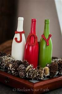 Simple and adorable DIY decorations using recycled wine