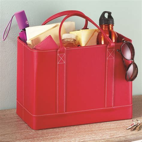 faux leather file organizer tote collections