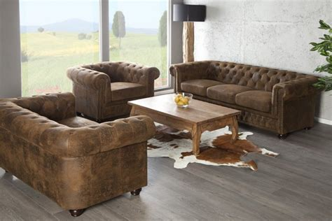canapé 2 places marron canapé chesterfield 3 places marron design