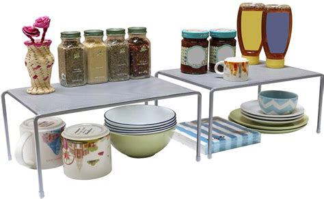 stacking shelves for kitchen cabinets top 6 best stacking shelves in 2018 reviews 8216