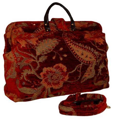 red floral tapestry carpet bag  shoulder strap findgiftcom