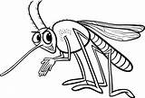 Mosquito Coloring Insect Premium Vector sketch template