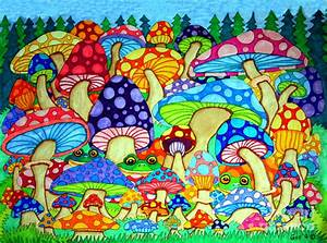 Colorful Mushrooms Drawings | www.imgkid.com - The Image ...
