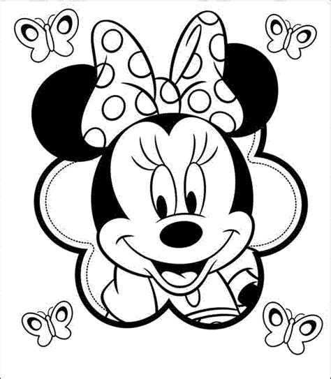 print   minnie mouse coloring pages
