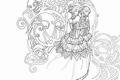 Mirror Side Namtia Deviantart Coloring Lines Books