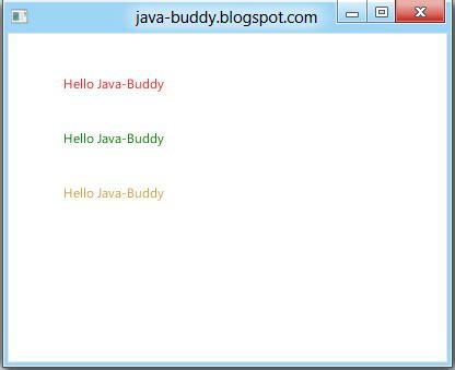 java buddy javafx exercise set text color using javafx