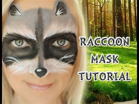raccoon makeup easy raccoon mask face paint tutorial youtube face paint ideas inspiration products