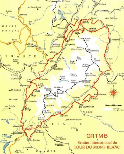 tour du mont blanc itineraire itin 233 raire du tour du mont blanc