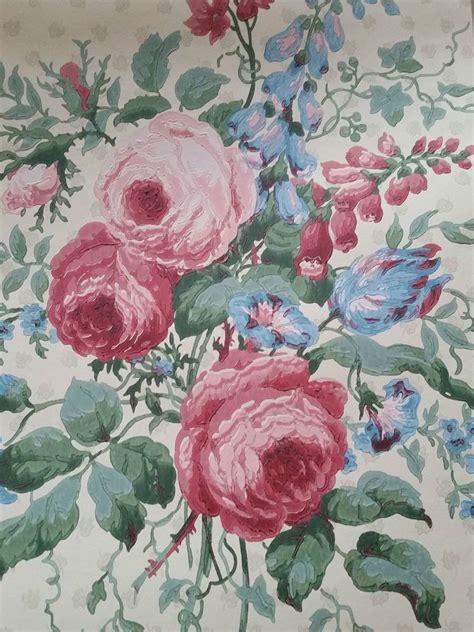 cottage style wallpaper sanderson wallpaper pemberley wr8246 1 floral blue
